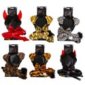 Costume Headband/tail/tie Sets 6ast 4 Animal/2 Devil Tieon Card