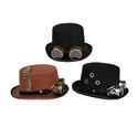 Hat Steampunk Tophat W/goggles 3ast Styles Hal/ht