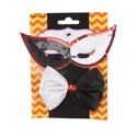 Jester/clown Costume 2pc Set Sequin Mask/satin Tie 2-tone Printed Backer Card