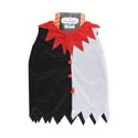Jester/clown Costume Shirt Polyester 21x13in Blk/wht/red Printed Hanger Card