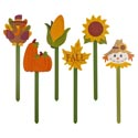 Yard Or Planter Stake Harvest Icons 6ast 19in Mdf Bulk Label