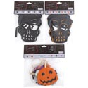 Garland Halloween 3ast Glitter 9ft Skull/7ft Mixed Icons Pbh