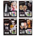 Makeup Kits Halloween 4ast Vampire/zombie/elf/unicorn Age 14+ Blister Card