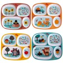 Melamine Kids Harvest Dinnerware 4ast Rectangle Shape Plate/pdq 9.5 X 8.5in