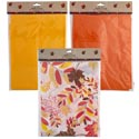 Tablecover Flannel Back Harvest 52x70in 2 Solid & 1 Print Pbh Orange/yellow/leaf Print