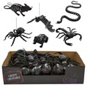 Creepy Creature 6ast In 24pc Pdq Black W/white Bone Print Hlwn/ht Notes For Assortment