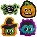 Placemat Halloween Pp Plastic 4ast Icons/hlwn Upc Label