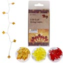 Harvest Leaves 10 Led String Lights 4ft 3ast Clrs/2aa Battop Not Incld/peggable Pvc Box/insrt