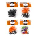 Rings Hall Plastic Bats/spiders/ Skulls 50pk Multicolor 12pc Mdsg Strip/halloween Pbh