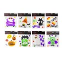 Gel Cling Stickers Halloween 8asst Printed Backer Polybag/hdr