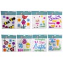 Gel Sticker Clings Easter/spring 8ast Styles Some W/print Pbh