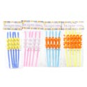 Straws Easter 5pk 4ast Carrot/chick/2 Bunny Designs Easter Pbh