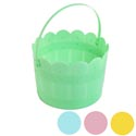 Easter Bucket Garden Gate Design Green/blue/pink/yellow 8.5 X5in 90g-upc Label