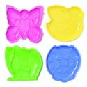 Plate Kids Diecut Plastic 4asst Bee/frog/ladybug/btrfly Upclabel 7.875 X 8 X 0.625in/53g