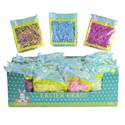 Easter Grass 1.5oz 36pc Pdq 7asst Matte & Crinkle Mix Easter Peggable Printed Pb