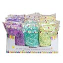 Easter Grass 1.5oz 36pc Pdq 7ast Crinkled & Iridescent Mixed/case Printed Pb-see Notes For Brk