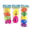 Easter Egg Funny Faces 3ast Sizes 8/5/2pks Multicolor Easter Polybag/header Insert