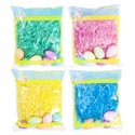 Easter Grass 1.75 Oz W/ 6 Mini Glitter Egg Decor 4 Asst Colors 18pc Grn/6p Blue/pink/yellow