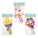 Paddle Ball Easter 5x9in 3ast Bunny/chick/floral Basket Stuff One Side Print Easter Pbh