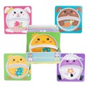 Dinnerware Melamine Kids Square Easter Divided Plate 4ast/24pc Pdq 8.8in/upc Easter Label