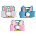 Headband Mini Bunny Ears W/tail Pink/white/blue Easter Tcd