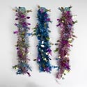 Garland Easter Tinsel 9ft 3ast Color/1 Style Easter Hdr W/holographic Icons