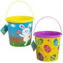 Easter Bucket W/lenticular Effct 2ast Eggs In Grass Design 7.5x7in H Easter Hangtag