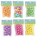 Easter Eggs Mini Foam Decor 36pc 6colors 1.2in/prtd Pb Purp/pink/gr/org/yel/multi