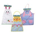 Apron Kids Easter Bunny Or Chick 3ast Felt 19.75 X 13in/hdrcrd