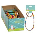 Necklace/bracelet Set Stretchy Colorful Beads 24pc Pdq/east Hdr