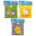 Treat Bag Easter Drawstring 12ct 3ast Easter Prints 6x6/mdsgstrip Easter Pbh