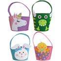 Easter Basket Felt W/handle Chick/bunny/dino/unicrn East Ht