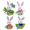 Easter Bunny Big Belly Tabletop Decor 4ast 7in Easter Ht