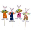 Easter Bunny Pick Decor 28inh 4ast Easter Ht