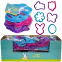 Cookie Cutter Easter 6pc Plastic In 20pc Pdq/meshbag W/ht