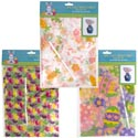 Bag A Basket 2pk Easter 3asst Print Cello Bag On 12pc Mdsgstrp 22 X 25 X 8 Inches