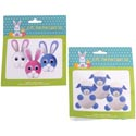 Easter Pom Craft Set Makes 6pc Bunny Or Lamb Pb W/easter Hdr