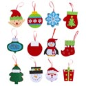Gift Card Ornament Felt Pocket Back 12asst Xmas Pbh 4-5.5in Long
