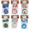 Baking Cup Kit Christmas 6ast 24-2in Cups W/24 Plastic Picks 12pc Mdsgstrip/xmas Pbh