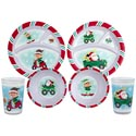 Dinnerware Kids 144pc Floor Disp 2ast Xmas Transport Theme Bowl/cup/plate Xmas Upc