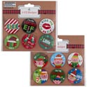 Badge Pins Elf Yourself 6ct 2ast Designs/pb Insert/12pcstrip