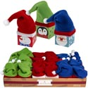 Gift Box Mini Paper W/hat 3ast Santa/snow/penguin 24pc Pdq/lab 2.25 Sq In Box