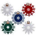 Doily Felt Round Christmas 12in 5ast Colors/shapes Xmas Ht