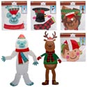 Cutout Jointed 32in Christmas Character 4asst Xmas Polybag/hdr