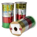 Ribbon Curling 4ast Clr Per Roll 80ft Total 3ast Foil/holo/embsd Xmas Paper Spool