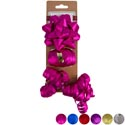 Bow Christmas Set 6ast Colors Bow/ribbon/curly Embossed Glittr