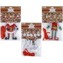 Banner Christmas Diy Face 9ft 10 Icons Santa/elf/snowman/pbh Inludes Pompoms