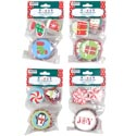 Baking Cup W/picks 4ast Holiday 2in Cup/3in Picks 12pc Mdsg Strp 4ast Prints/christmas Pbh/pbs