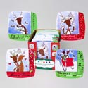 Dessert Plate Square Melamine Reindeer Greetings 36pc Pdq 4asst 8.5in Matching Mug G91308
