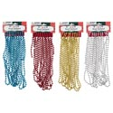 Garland Bead 15ft 7mm 4ast Clrs Gold/silver/red/blue Cmas Hdr